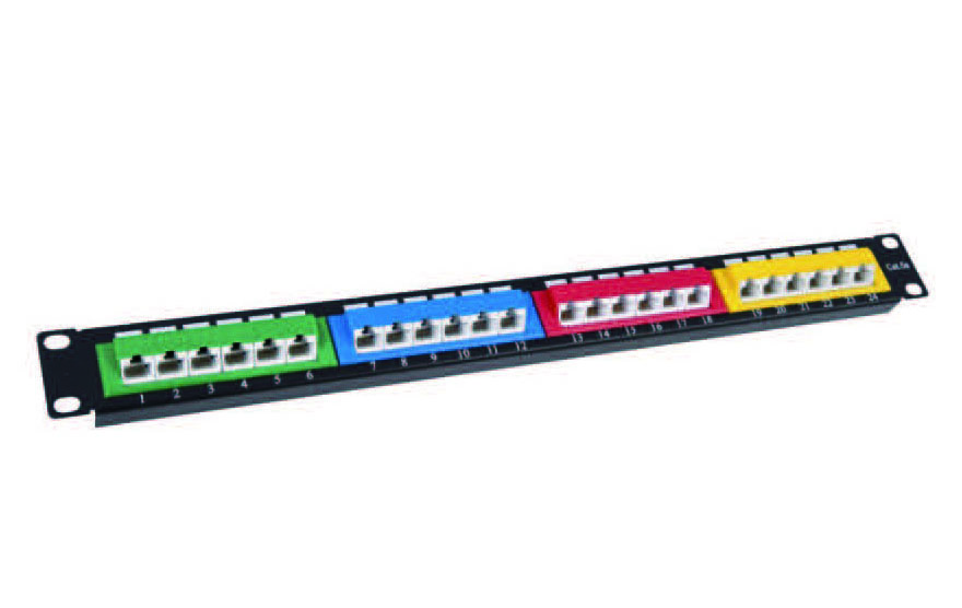 UTP CAT.5E PATCH PANEL 24PORTS 45°   FD-PP11