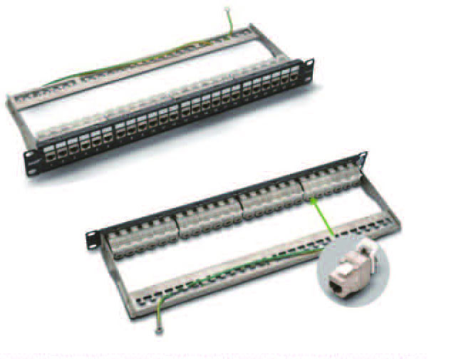 Cat.5e/Cat.6/CAT.6A 24Ports STP patch panel  FD-PP03